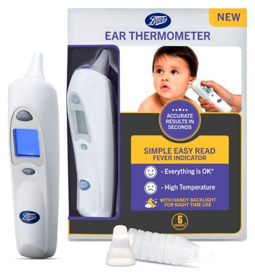 forehead thermometer strips from boots