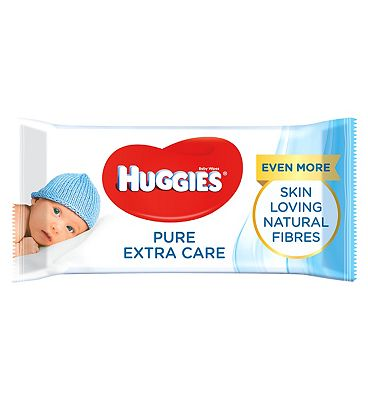 Pure 'Extra Care' baby wipes, single pack = 56 wipes