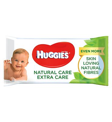 Natural Care 'Extra Care' baby wipes, single pack = 56 wipes