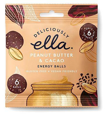 Deliciously Ella Energy Balls - Peanut Butter & Cacao 48g