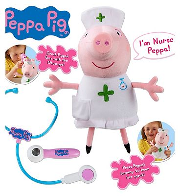 Peppa Pig Talking Nurse Peppa Plush