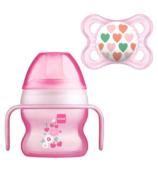 79c07bc0b48 MAM Starter Cup 150ml and Soother - Pink