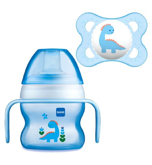 c58ba6079ba MAM Starter Cup 150ml and Soother - Blue