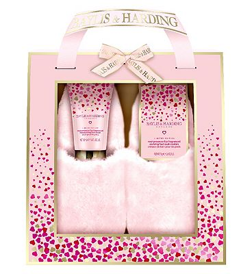 Baylis & Harding Rose Prosecco Fizz Slipper Set