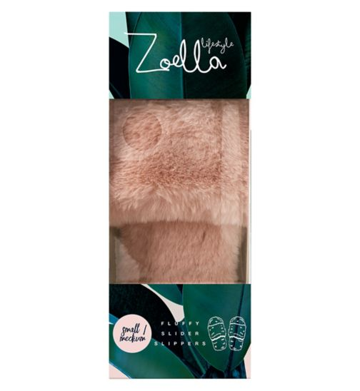 Zoella Lifestyle Fluffy Slider Slippers S/M