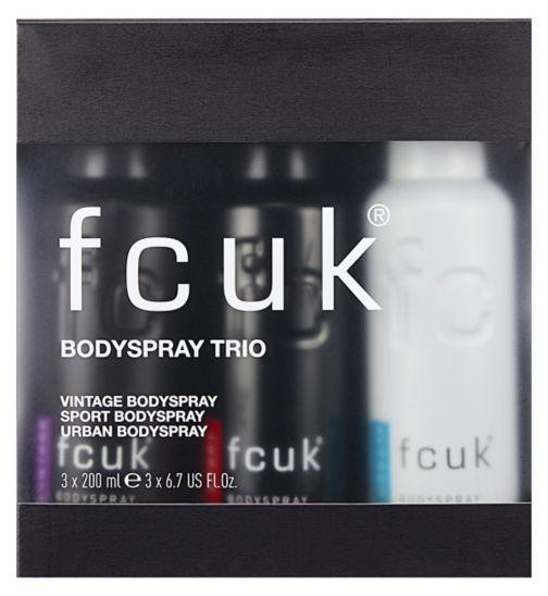 fcuk body spray trio gift