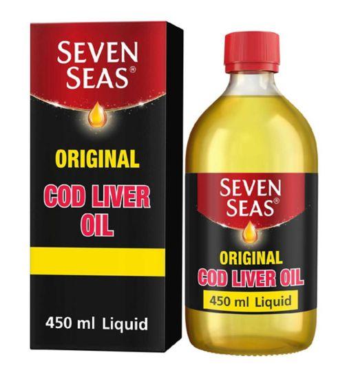 Seven Seas® Cod Liver Oil Original Liquid 450mL.