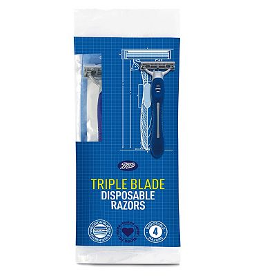 Image of Boots Triple Blade Disposable Razor 4 Pack