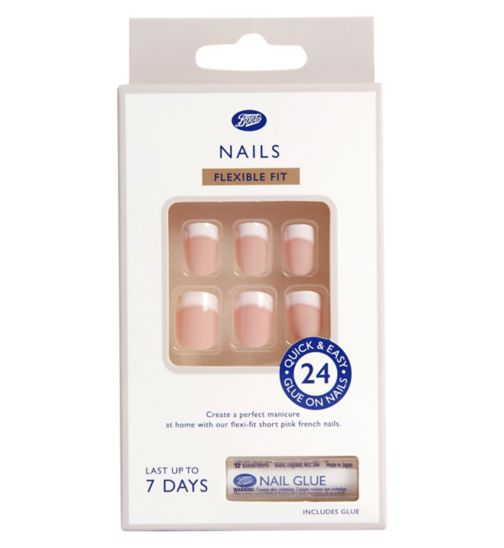 Boots Artificial Nails - French Pink Short