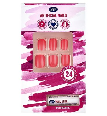 Boots Artificial Nails - Coral