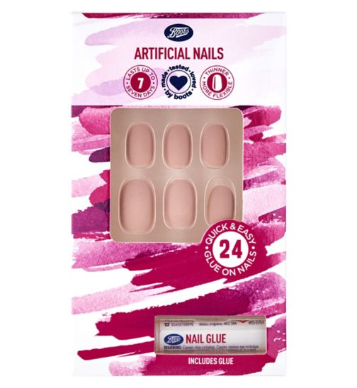 13824458e78 Boots Artificial Nails - Nude Oval Matte