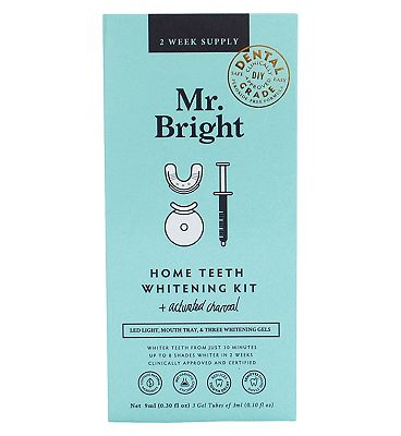 Mr Bright Charcoal Teeth Whitening Kit with LED
