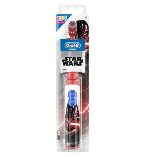 Oral B Electric Battery Powered Toothbrush Featuring Star Wars Characters For Kids