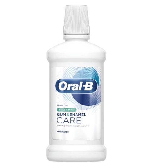 Oral-B Gum & Enamel Care Fresh Mint CPC Mouthwash 500ml
