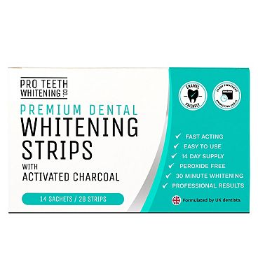 Pro Teeth Whitening Co. Premium Dental Whitening Strips with Activated Charcoal