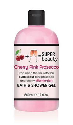 Super Beauty Cherry Pink Prosecco Bath & Shower Gel 500ml