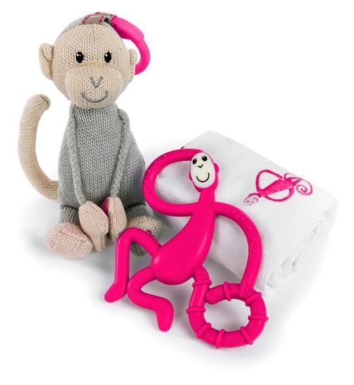 Grey Matchstick Monkey Mini Monkey Teether