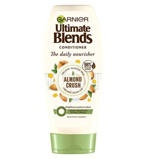 Garnier Ultimate Blends Almond Crush Almond Milk & Agave Sap Conditioner for Normal Hair 360ml