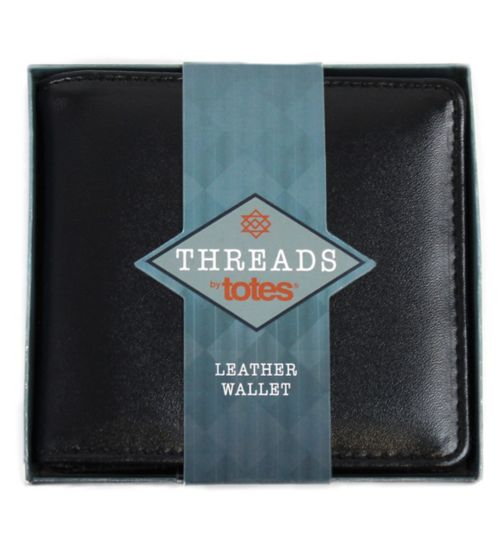 threads by totes mens leather wallet one size