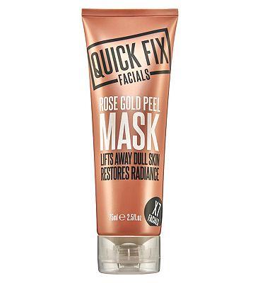 Quick Fix Facials Rose Gold Peel Mask 75ml