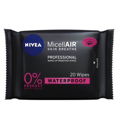 NIVEA MicellAir Professional Micellar Make-Up Remover Face Wipes, 20 wipes