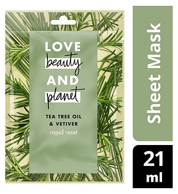 Love Beauty And Planet Rapid Detox Face Sheet Mask
