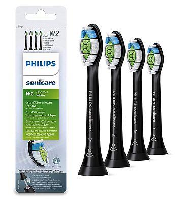 Image of Philips Sonicare Optimal White BrushSync Enabled Replacement Brush Heads - 4pk Black HX6064/13
