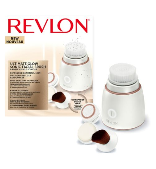 Revlon Ultimate Glow Sonic Facial Brush with Foundation Applicator