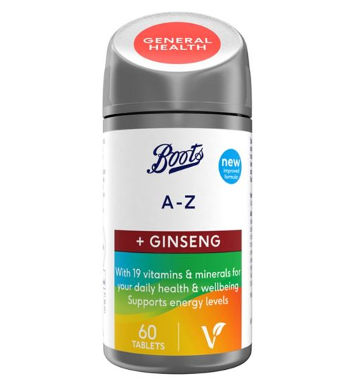 Boots A-Z + Ginseng 60 Tablets (2 month supply)