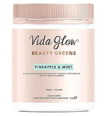Vida Glow Beauty Greens Powder Pineapple & Mint - 30 servings