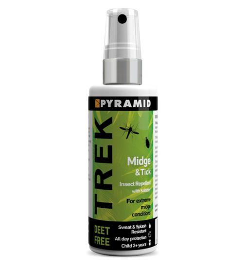 Trek Midge & Tick Insect Repellent Pump Spray with Saltidin® 60ml