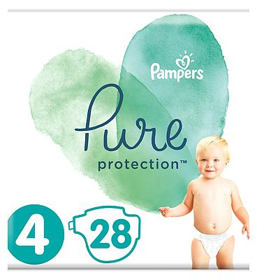 Pure Protection Size 4, 28 Nappies, 9-14kg