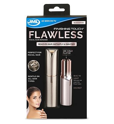 JML Finishing Touch Flawless Facial Hair Trimmer - Blush Edition