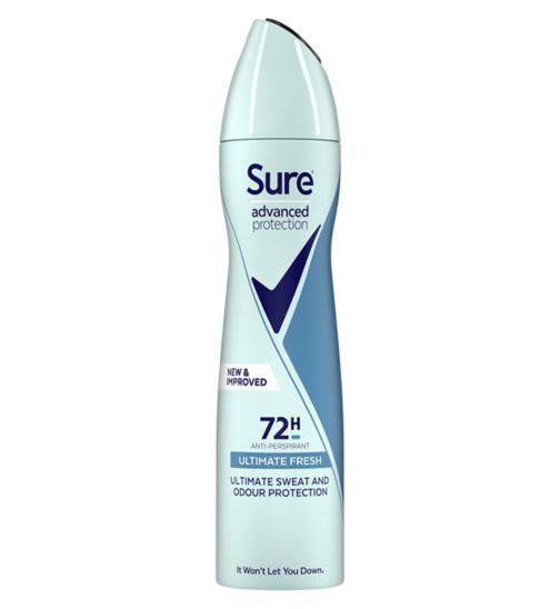 Sure Advanced Protection Ultimate Fresh Anti-perspirant Deodorant Aerosol 200ml