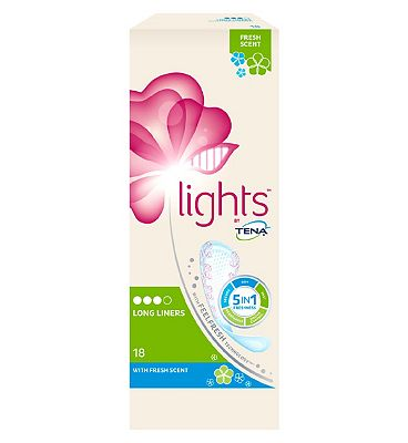lights by TENA Long Incontinence Liners Scented - 18 pack