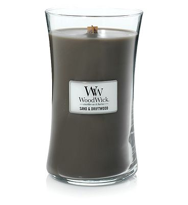 WoodWick Sand & Driftwood Large Jar Candle Core