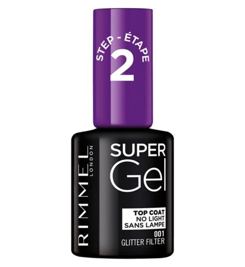 Rimmel Super Gel Top Coat Nail Polish Glitter