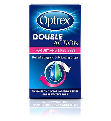 Optrex Double Action Drops for Dry & Tired Eyes - 10ml