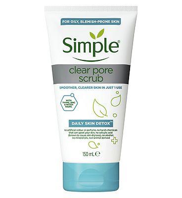 Simple Daily Detox Clear Pore Polish Face Scrub 150ml