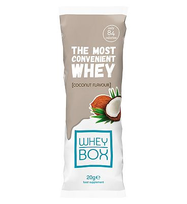 Whey Box The Most Convenient Whey Coconut Flavour Protein - 20g Sachet