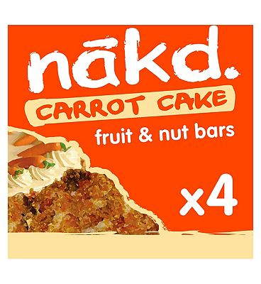 Nakd Raw Fruit & Nut Wholefood Bars Carrot Cake - 4 x 35g
