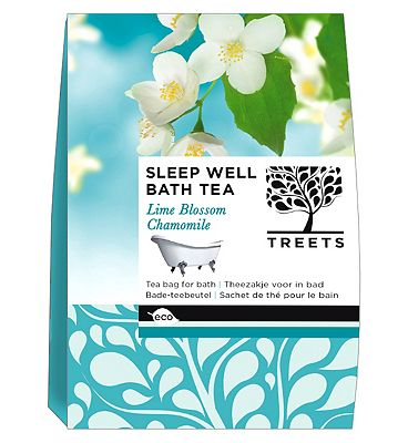 Treets Sleep Well Bath Tea Lime Blossom Chamomile 3 x 70g