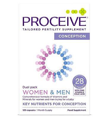 Proceive Advanced Fertility Supplement Women & Men Dual Pack - 120 Capsules