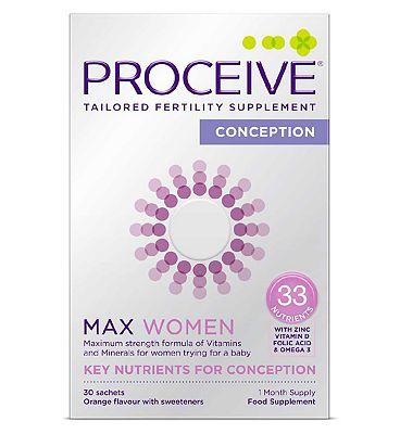 Proceive Advanced Fertility Supplement Max Women - 30 Sachets