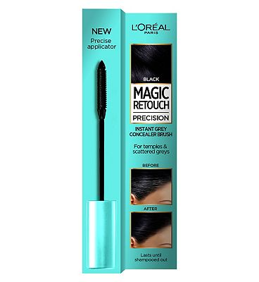 l'oreal magic retouch black precision instant grey concealer brush