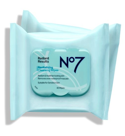 No7 Radiant Results Revitalising Wipes Duo