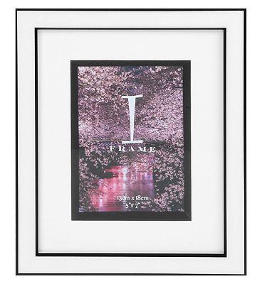 I-Frame Black & White Photo Frame 5x7