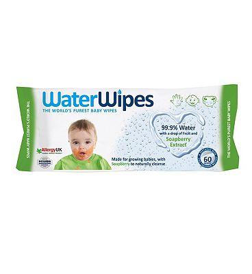 Soapberry baby wipes, single pack = 60 wipes