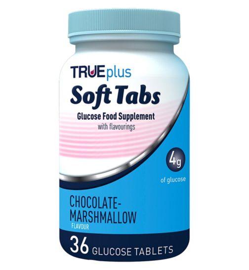 Trividia Trueplus Glucose Soft Tabs 36 Glucose Tablets - Chocolate Flavour