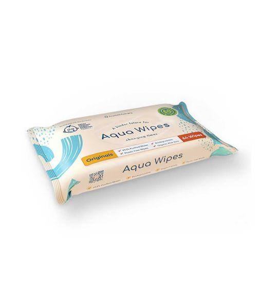 Aqua Wipes, single pack = 64 wipes